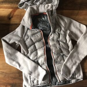 Michael Kors Light Fleece/Down Hooded Jacket